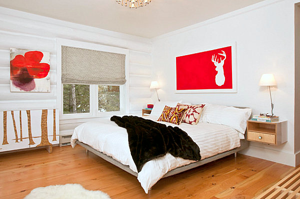 red accent bedroom How to Decorate a Room with White Walls