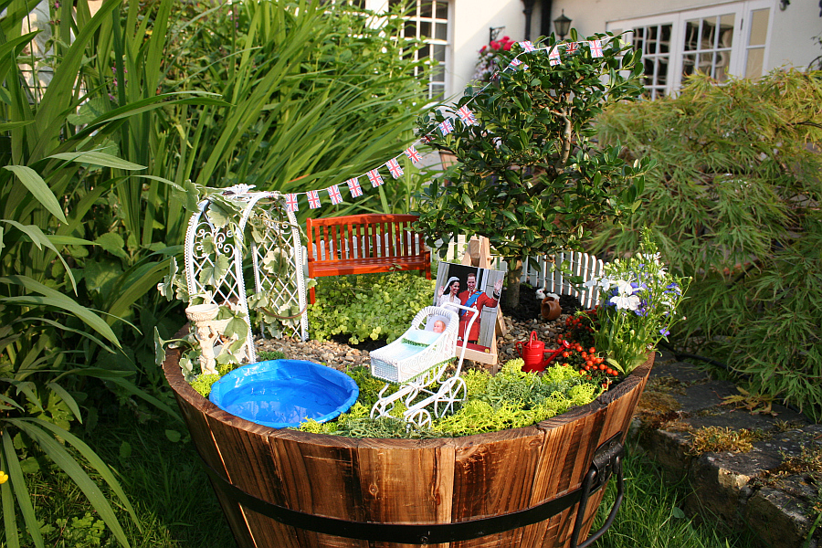 DIY Miniature Garden Celebrates The Birth Of The Royal