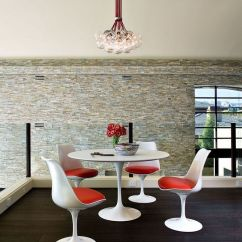 Tulip Table And Chairs Chair 1 2 Slipcovers Saarinen A Design Classic Perfect For Contemporary View In Gallery Complete Dining Set Along With The