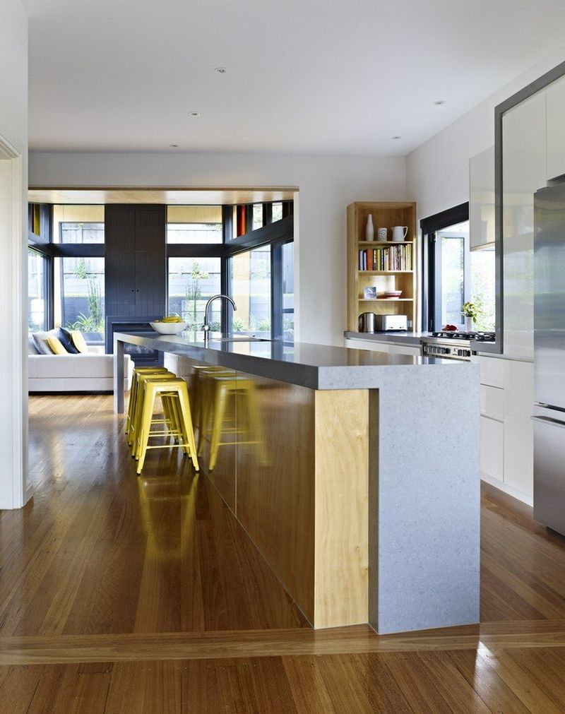 kitchen island design ideas cherry wood cabinets contemporary extension to a classic melbourne kew house