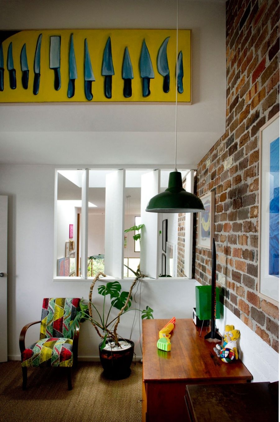 design living room apartment dark brown leather sofa ideas eclectic sydney house presents colorful and quirky interiors