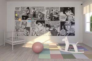 comic strip mural nursery bedroom murals bold