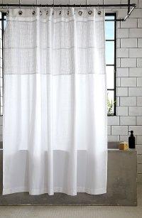 White cotton shower curtain - Decoist