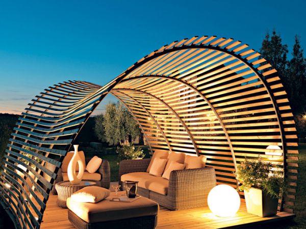 Sleek pergola design for the contemporary porchw ith ocean views  Decoist