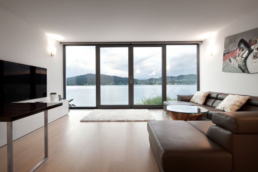 Elegant Austrian Home Blends Lovely Lake Views With A