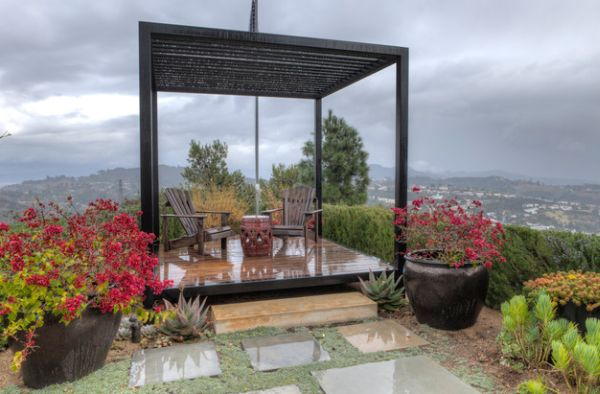 View In Gallery Minimalists Take On The Classic Pergola Design