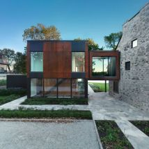Historic Quebec Home Cool Contemporary Extension