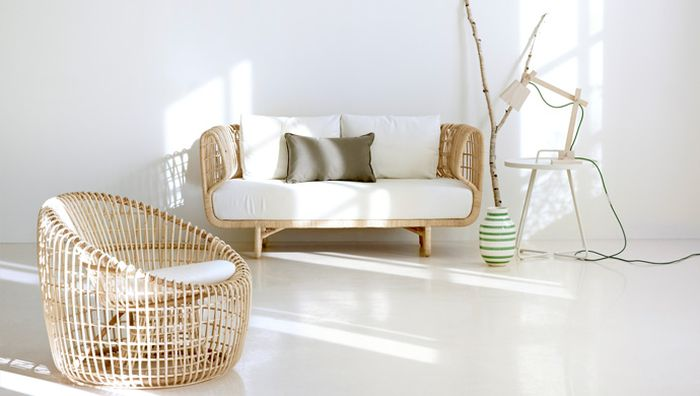 cane easy chair folding leather nest: sustainable rattan décor with scandinavian charm