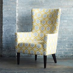 Gray And Yellow Accent Chair Used Leather Club Chairs For Sale Sunny Furniture Finds A Radiant Interior