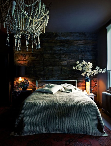 dark bedroom wall idea 13 Dark Bedrooms With A Subtle Halloween Vibe
