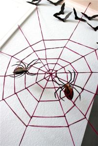 DIY Halloween Decorations: Spooky Spider Web And A Giant ...