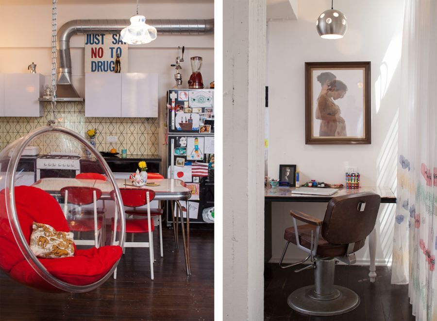 large chair cushions jazzy elite power stylish tel aviv apartment incorporates nostalgic retro touches