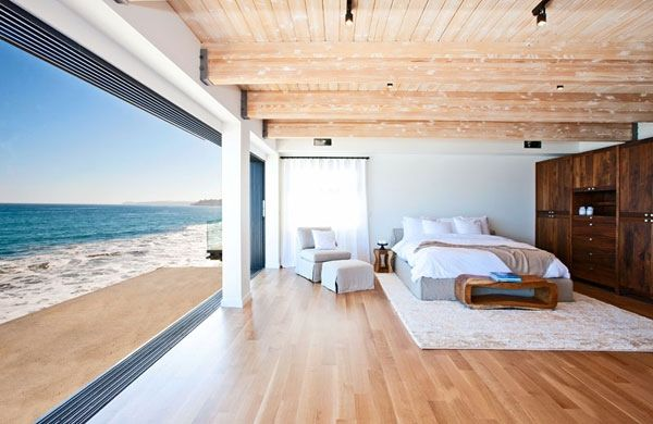 beach house bedroom Celebrity Malibu Beach House Sports The Pacific For A Backyard!