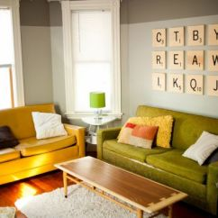 Ideas For Living Room Wall Art Open Kitchen Designs 50 Beautiful Diy Your Home View In Gallery Scrabble Idea