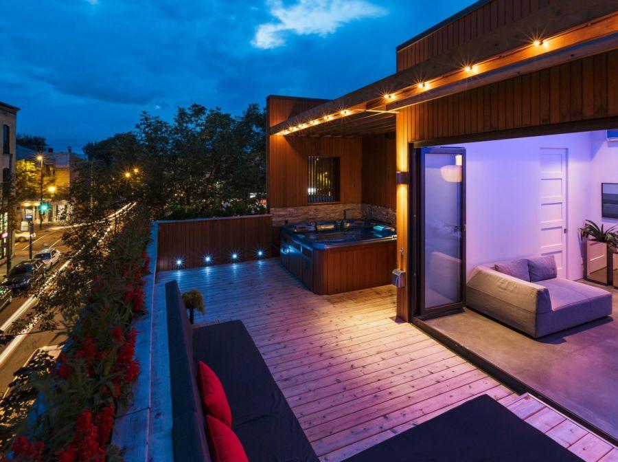 Brilliant LED lighting idea for terrace  Decoist