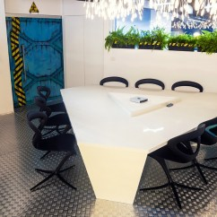 Modern Kitchen Pendant Lights Home Depot Unfinished Cabinets Imaginative Spaceship-themed Office With A Touch Of ...