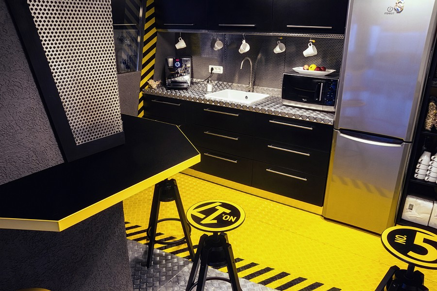 modern kitchen lighting ideas epoxy countertops imaginative spaceship-themed office with a touch of ...