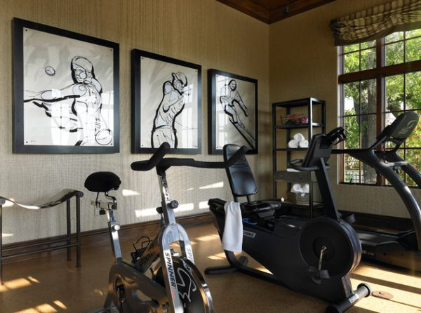 Easy home gym decorating ideas