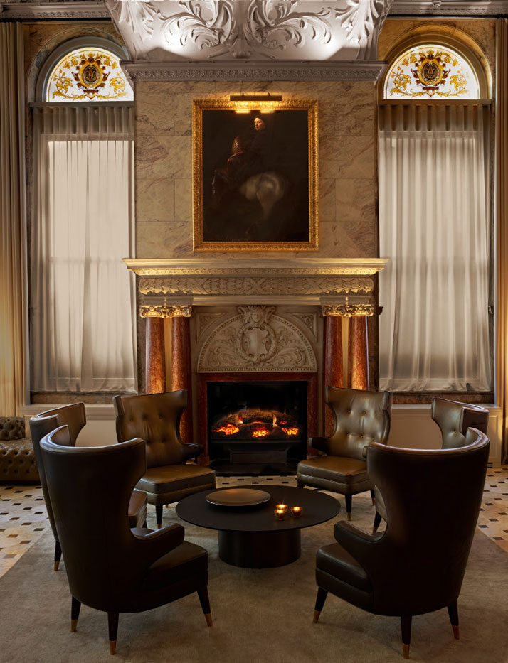 Inside Fireplace Decor Luxurious London Edition Blends Classic Design With A