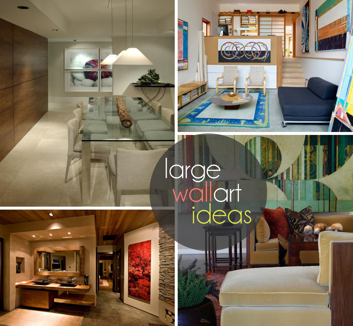Large Wall Art Ideas For Exquisite Interiors
