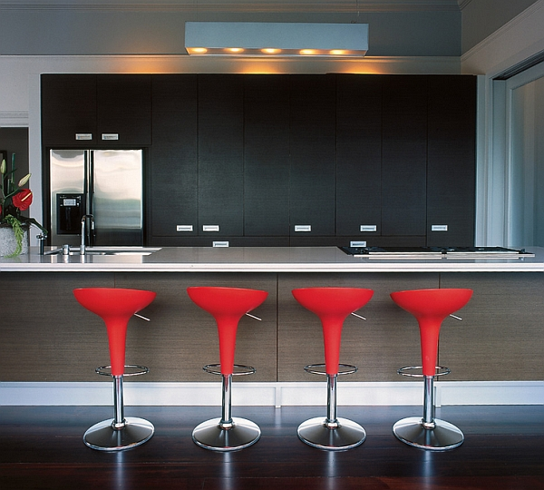 kitchen bar chairs trash cans with lids 10 trendy and counter stools to complete your modern view in gallery bombo barstool lively red