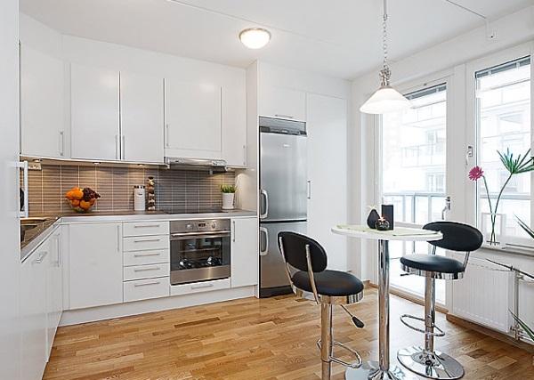 studio apartment kitchen Bright studio apartment kitchen - Decoist