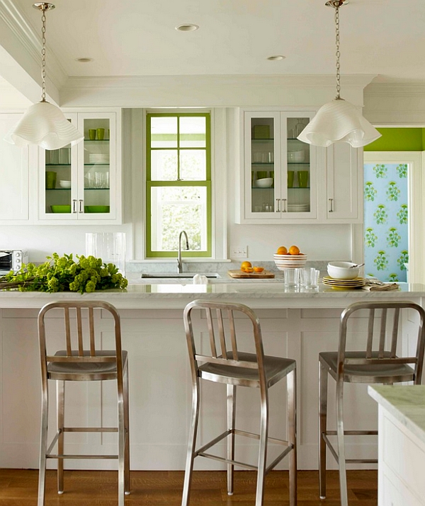 modern kitchen stools tables art van 10 trendy bar and counter to complete your fresh accents of green in the