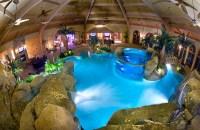 Salt-water aquarium and waterfalls usher in a tropical ...