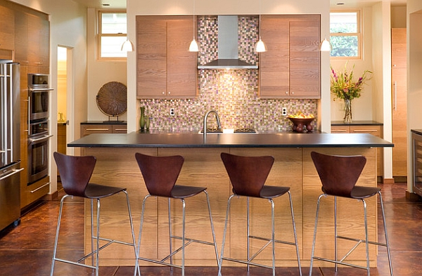 stools for kitchen canvas wall art 10 trendy bar and counter to complete your modern view in gallery series 7 blend with the wooden tones of