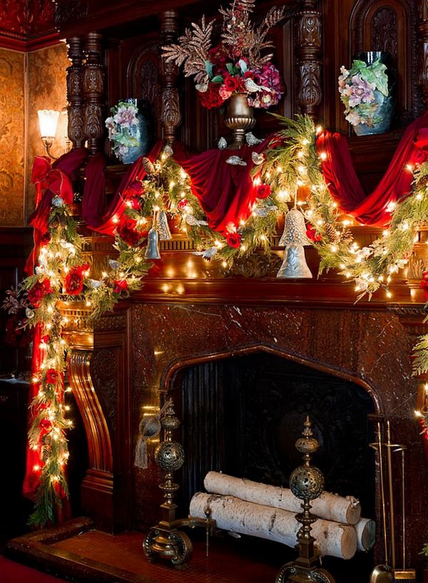 Christmas Decorating Ideas Fireplace Mantel