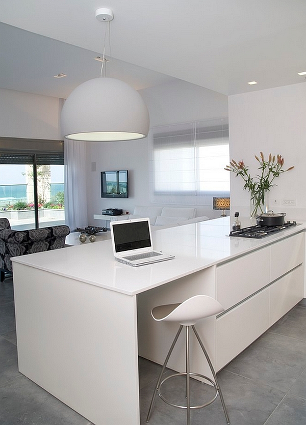 modern kitchen stools towel racks 10 trendy bar and counter to complete your view in gallery turn the into an smart workspace