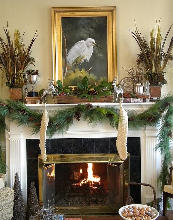 Decorating Modern Interior Design Simple Christmas Mantel And Elegant Decorations By Angela Flournoy