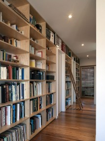 Home Library with Ladder Shelves