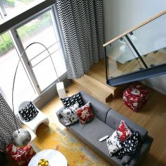 Chevron Living Room Curtains Rugs In Pattern Craze How To Pull It Off At Home View Gallery Black And White Modern