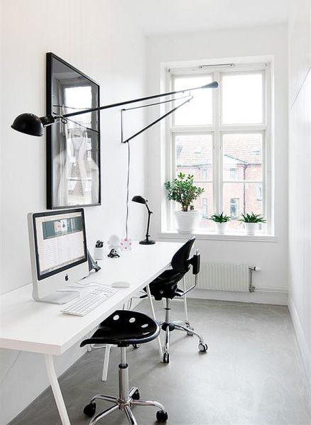 black and white home office Monochromatic Decorating Ideas And Their Stylish Appeal