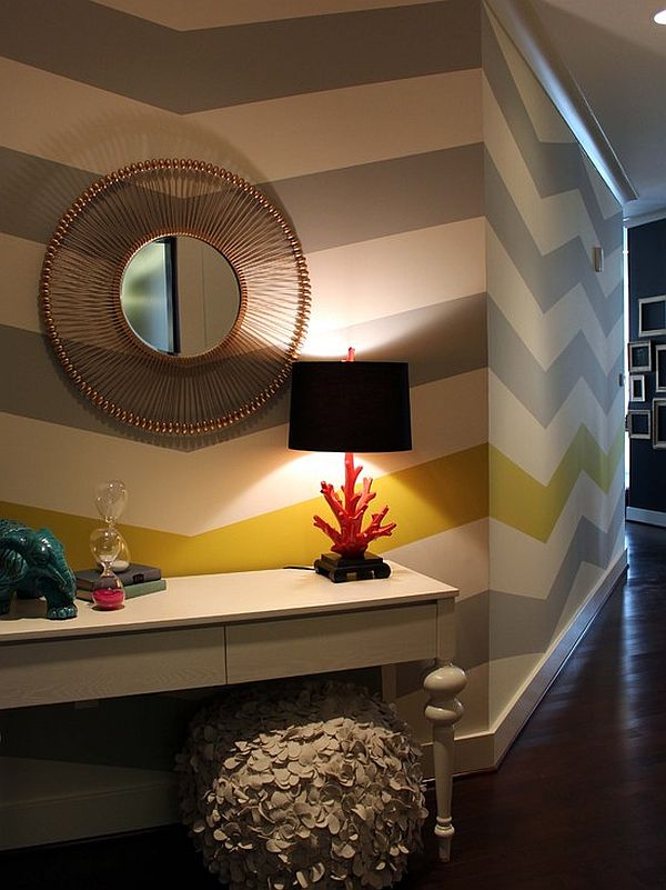 living room wall paint designs house ideas chevron pattern craze: how to pull it off at home