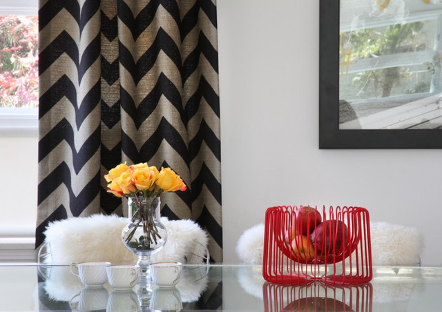 chevron living room curtains furniture stores sets pattern craze how to pull it off at home view in gallery