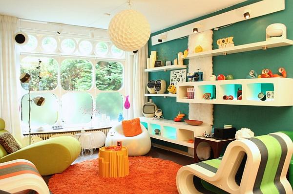 Combine clean contemporary design with retro shades