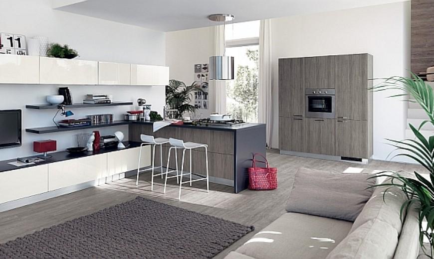 Per arredare un unico ambiente open space con cucina e soggiorno non basta avere una bella cucina. Sleek Modern Kitchen Looks Like A Posh Contemporary Office