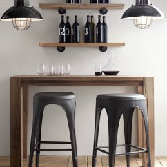 Bar Stool Chair Grey Space Saver High Replacement Straps Key Traits Of Industrial Interior Design