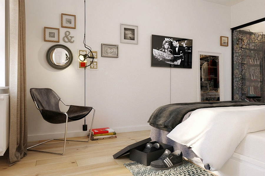 Tiny Apartment In Black And White Charms With SpaceSaving Design