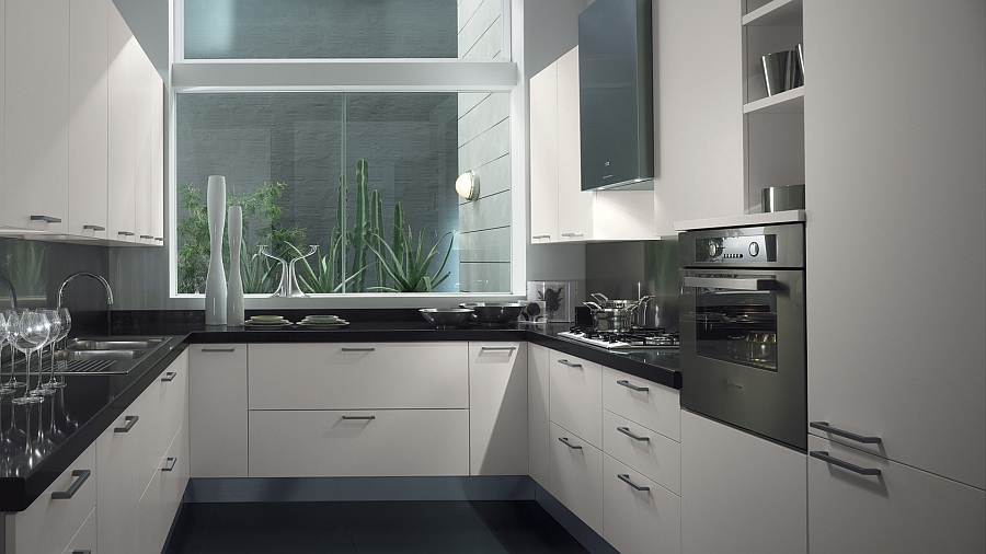 Sleek Modern Kitchen Looks Like A Posh Contemporary Office