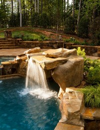 Breathtaking Pool Waterfall Design Ideas