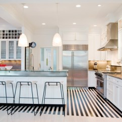 Linoleum Kitchen Flooring Scoop Bold And Beautiful Black White Stripes In Every Room