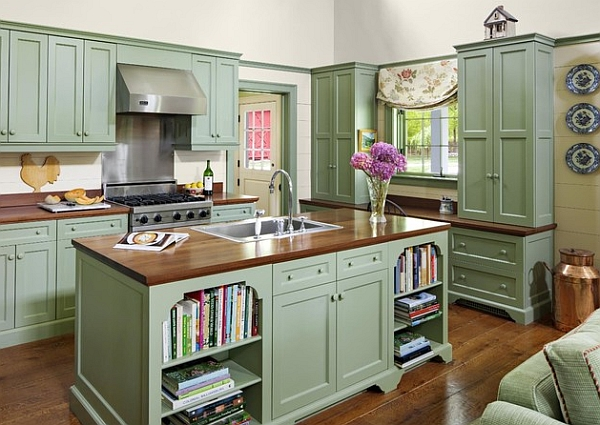 antique green kitchen cabinets Kitchen Cabinets: The 9 Most Popular Colors To Pick From