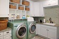 Built-in laundry room shelving - Decoist