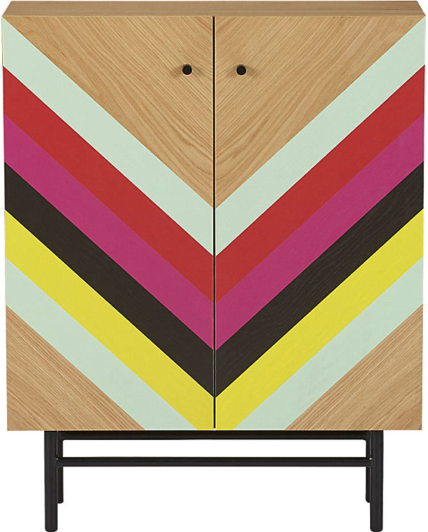 Colorful striped cabinet
