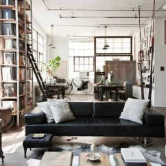 New York Loft Style Living Room Design Curtains 3 Urban Lofts With Unforgettable View In Gallery Eclectic