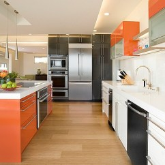 Kitchen Cabinet Color Cabinets Austin The 9 Most Popular Colors To Pick From View In Gallery Scheme That Brings Together Orange White And Black