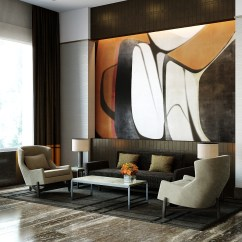 Living Room Furniture Brooklyn Design My Walls Luxury Waterfront Condominium With Expansive Views Of Nyc ...